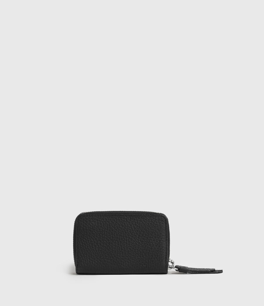 Womens Fetch Leather Cardholder (black) - Image 5