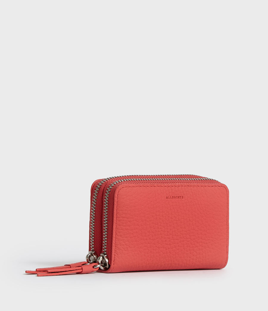 Women's Fetch Leather Cardholder (chalk_white) - Image 2