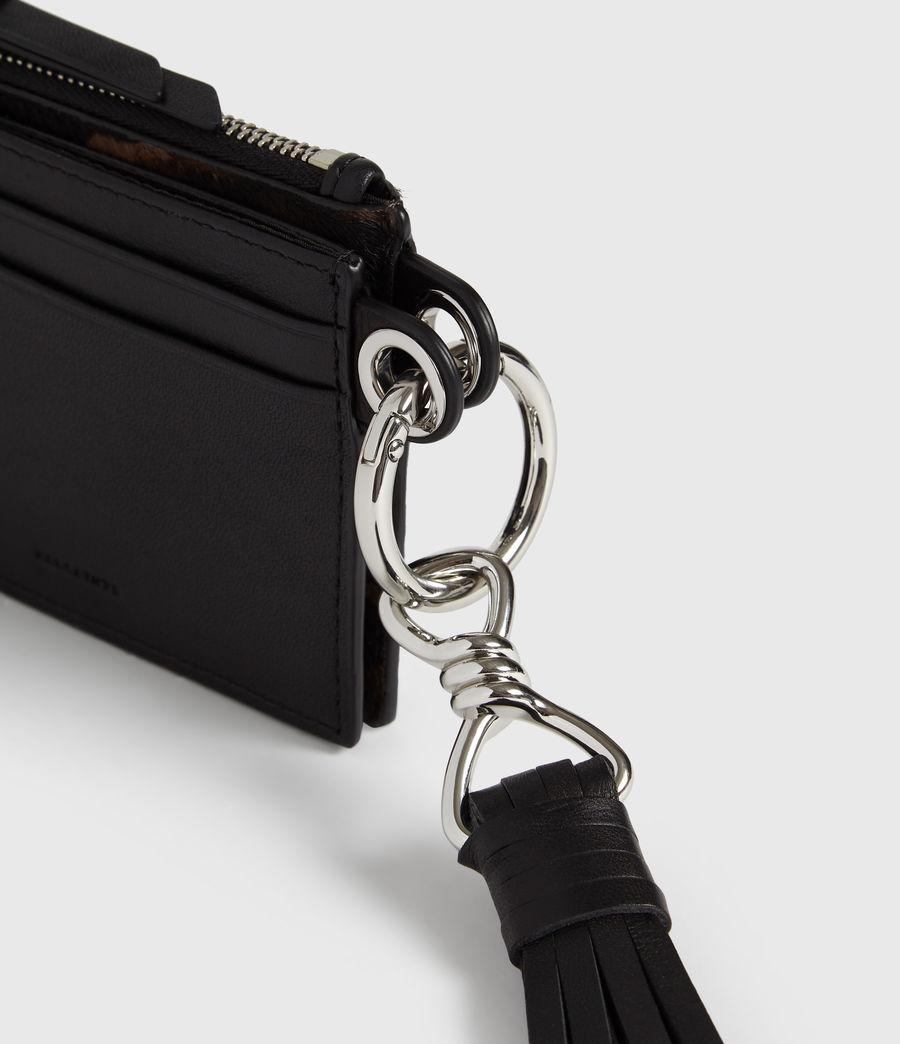 Womens Kim Leather Key Fob (black) - Image 6