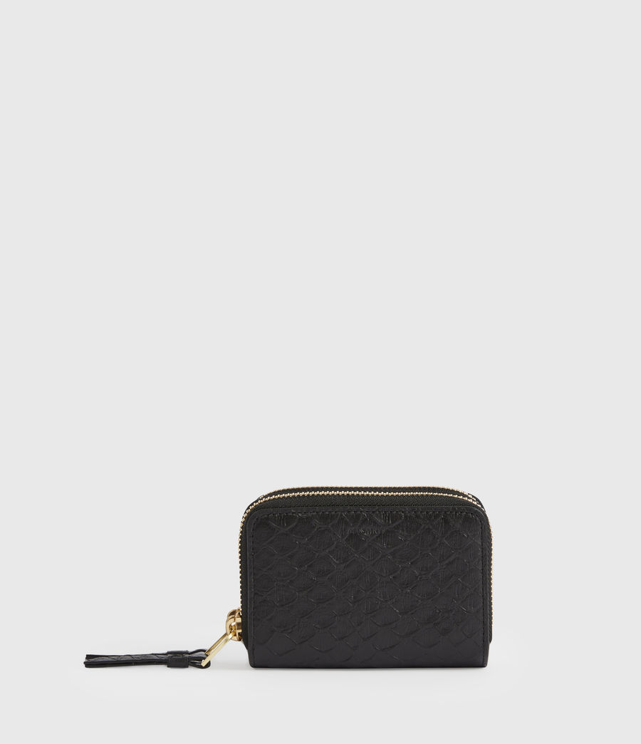 Women's Nantes Leather Cardholder (black_python) - Image 1