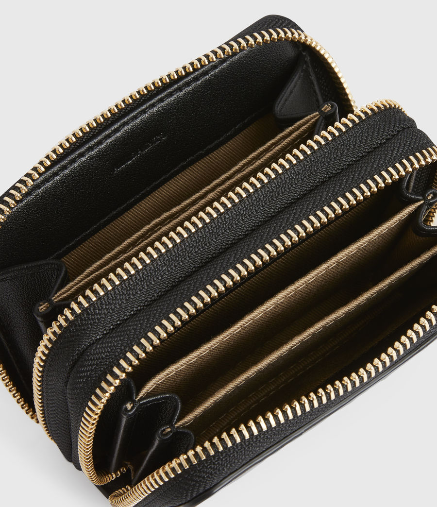 Women's Nantes Leather Cardholder (black_python) - Image 2