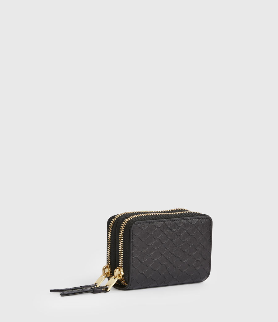 Women's Nantes Leather Cardholder (black_python) - Image 3