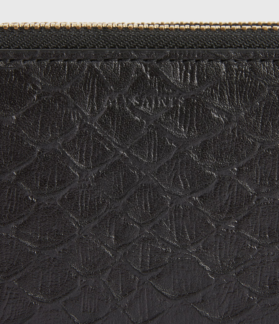 Women's Nantes Leather Cardholder (black_python) - Image 4