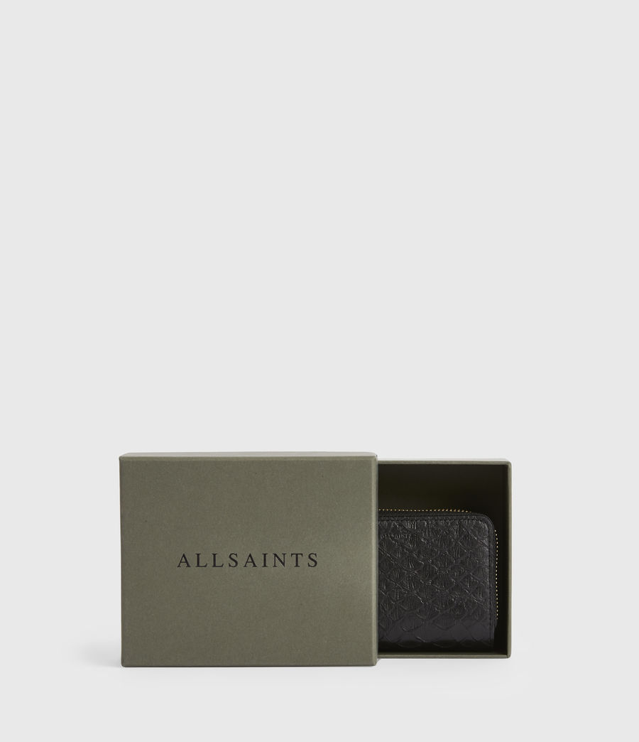 Women's Nantes Leather Cardholder (black_python) - Image 6