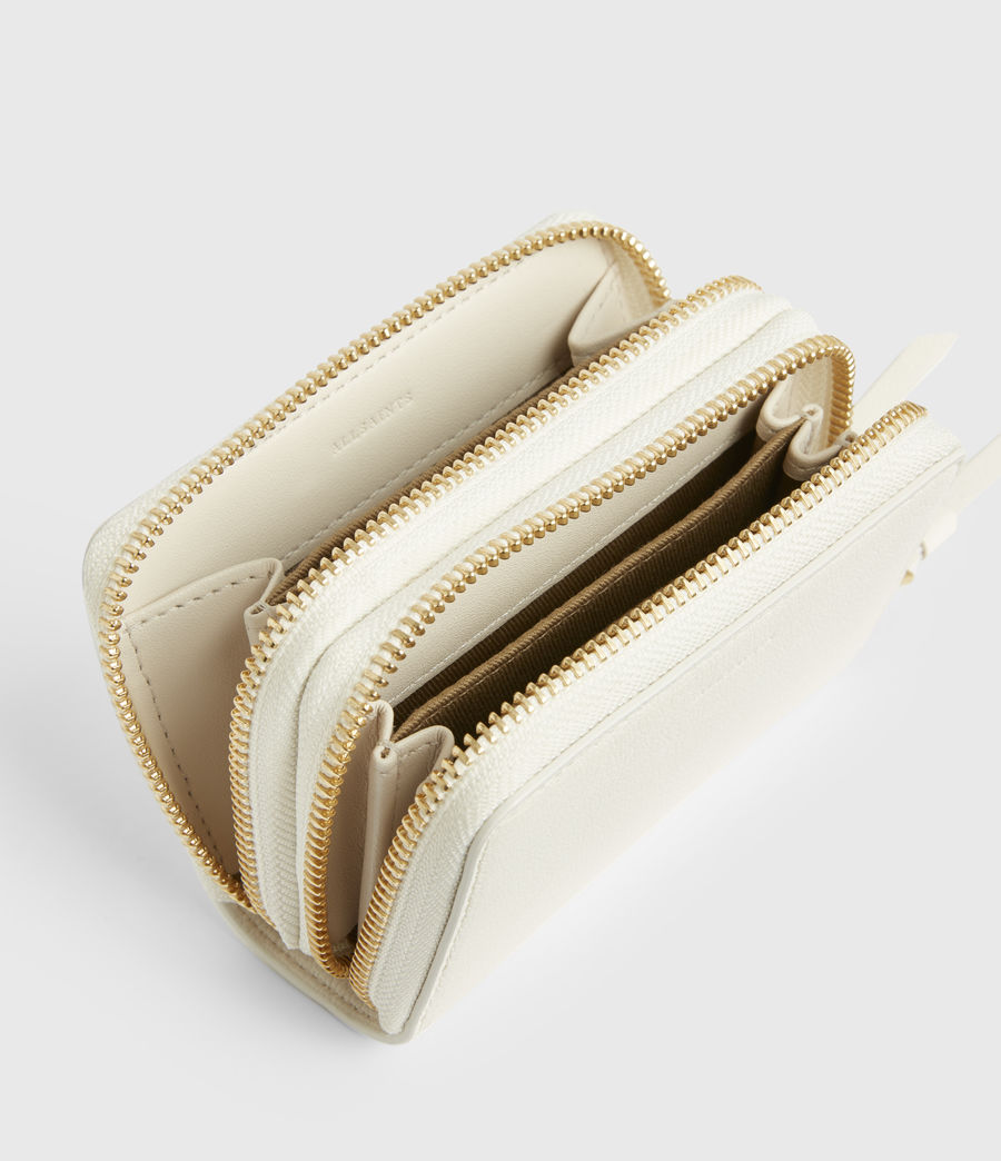 Women's Nantes Leather Cardholder (roe_white) - Image 2