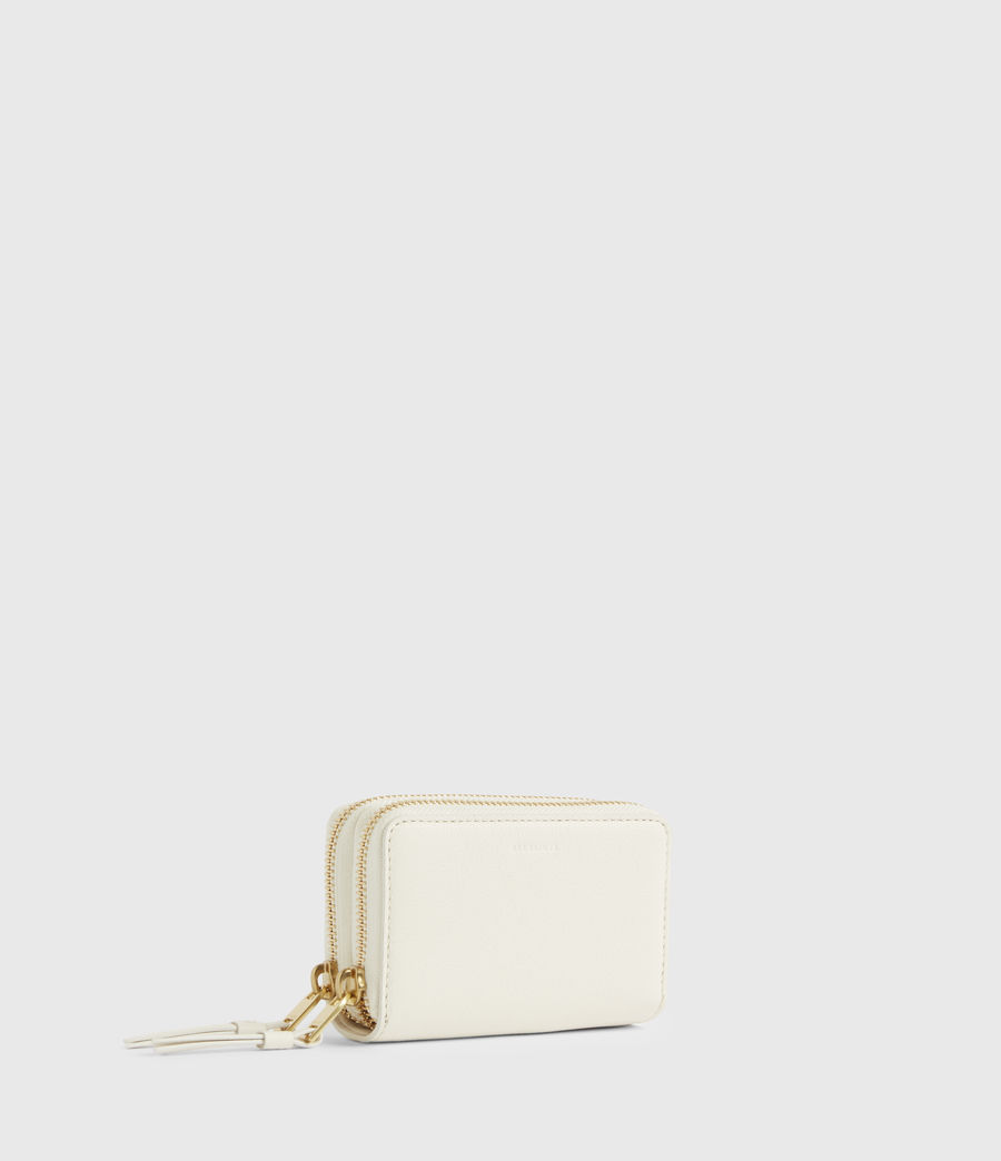 Women's Nantes Leather Cardholder (roe_white) - Image 3