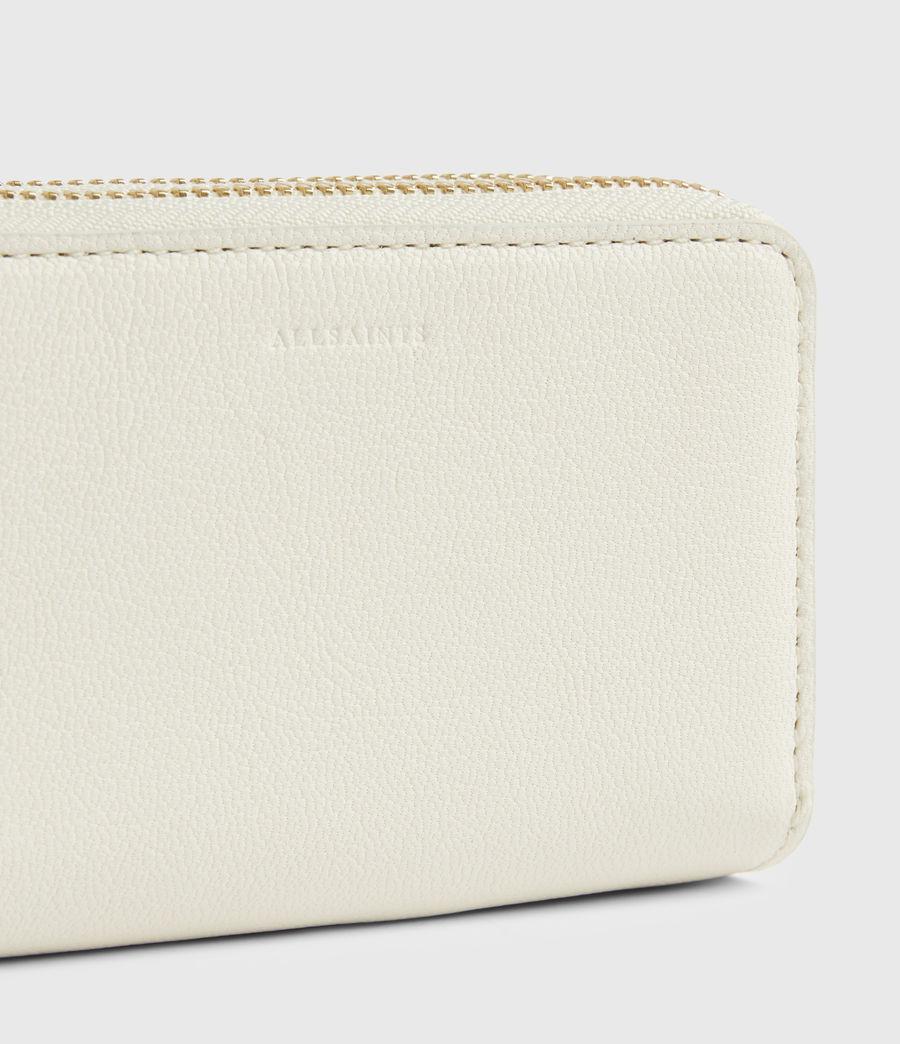 Women's Nantes Leather Cardholder (roe_white) - Image 4