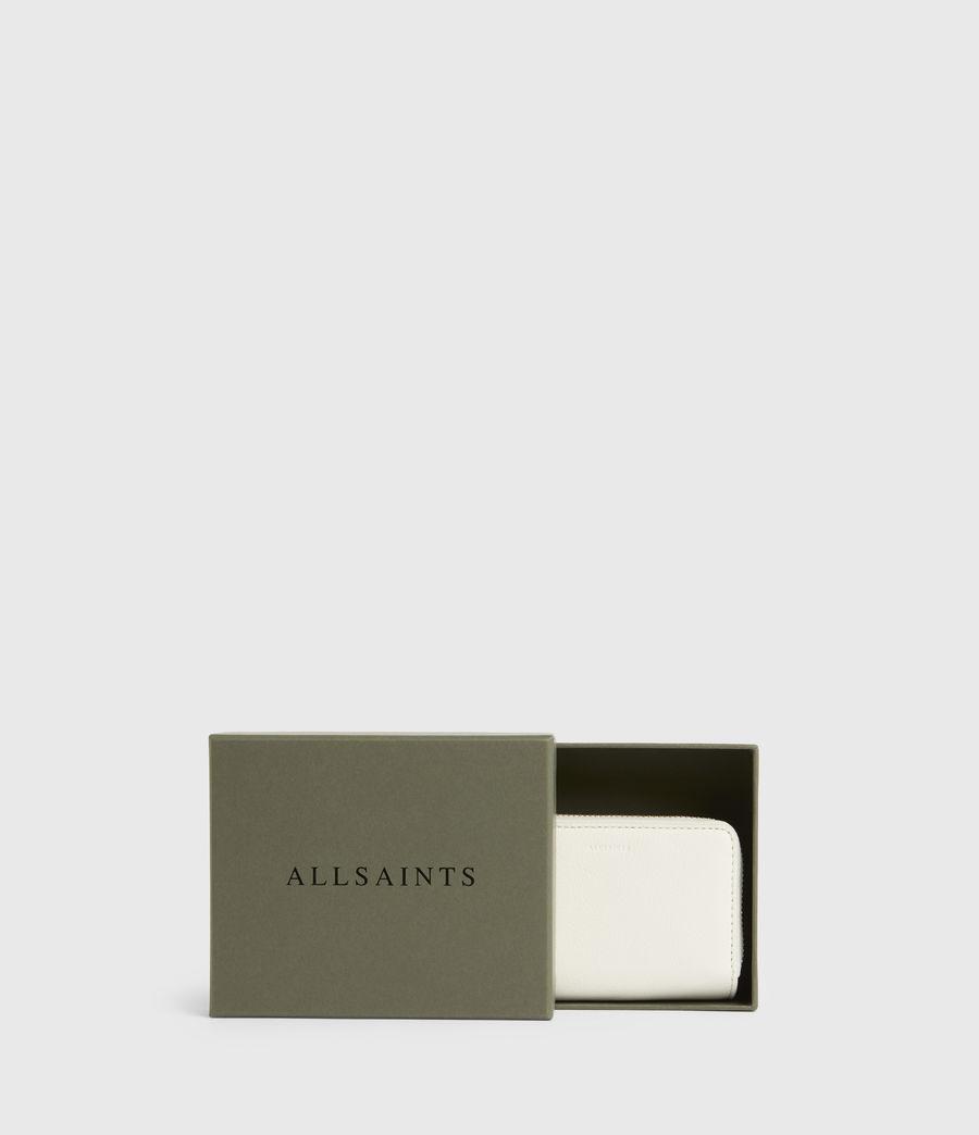 Women's Nantes Leather Cardholder (roe_white) - Image 6