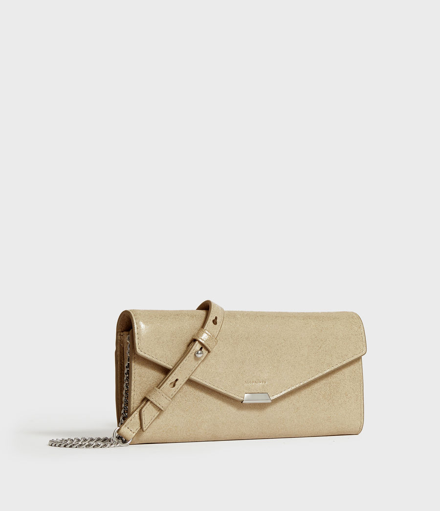 Mujer Glitz Chain Leather Wallet (glittering_gold) - Image 2