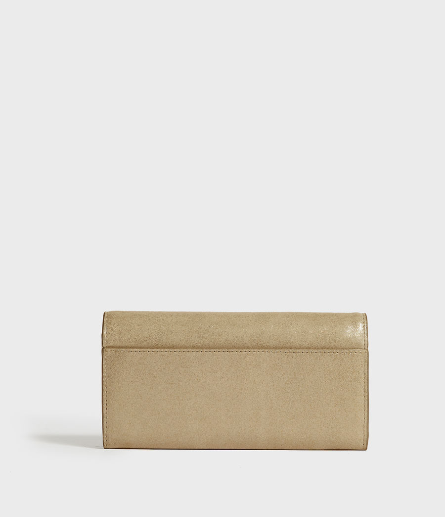 Mujer Glitz Chain Leather Wallet (glittering_gold) - Image 6