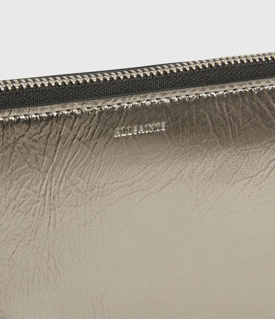 Women's Fetch Leather Phone Wristlet (silver) - Image 4
