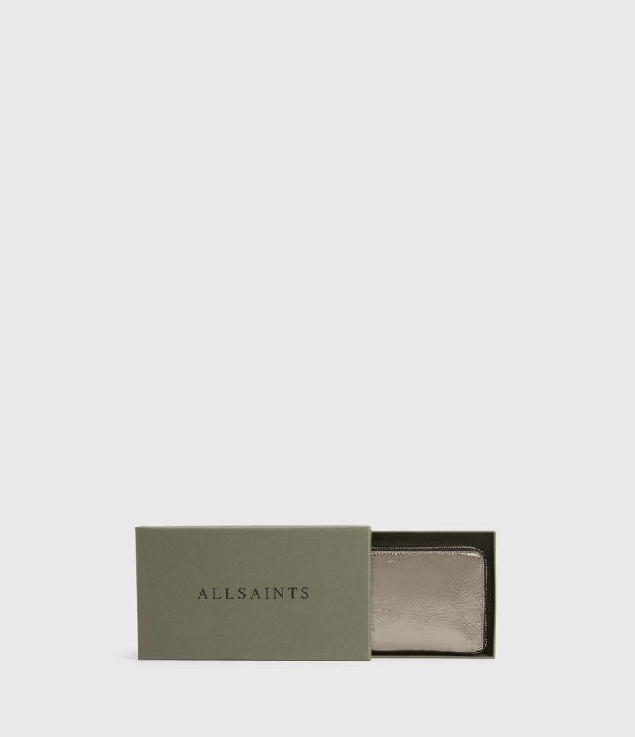 Women's Fetch Leather Phone Wristlet (silver) - Image 7