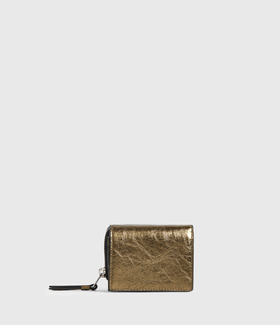 Womens Bede Leather Wallet (gold) - Image 1
