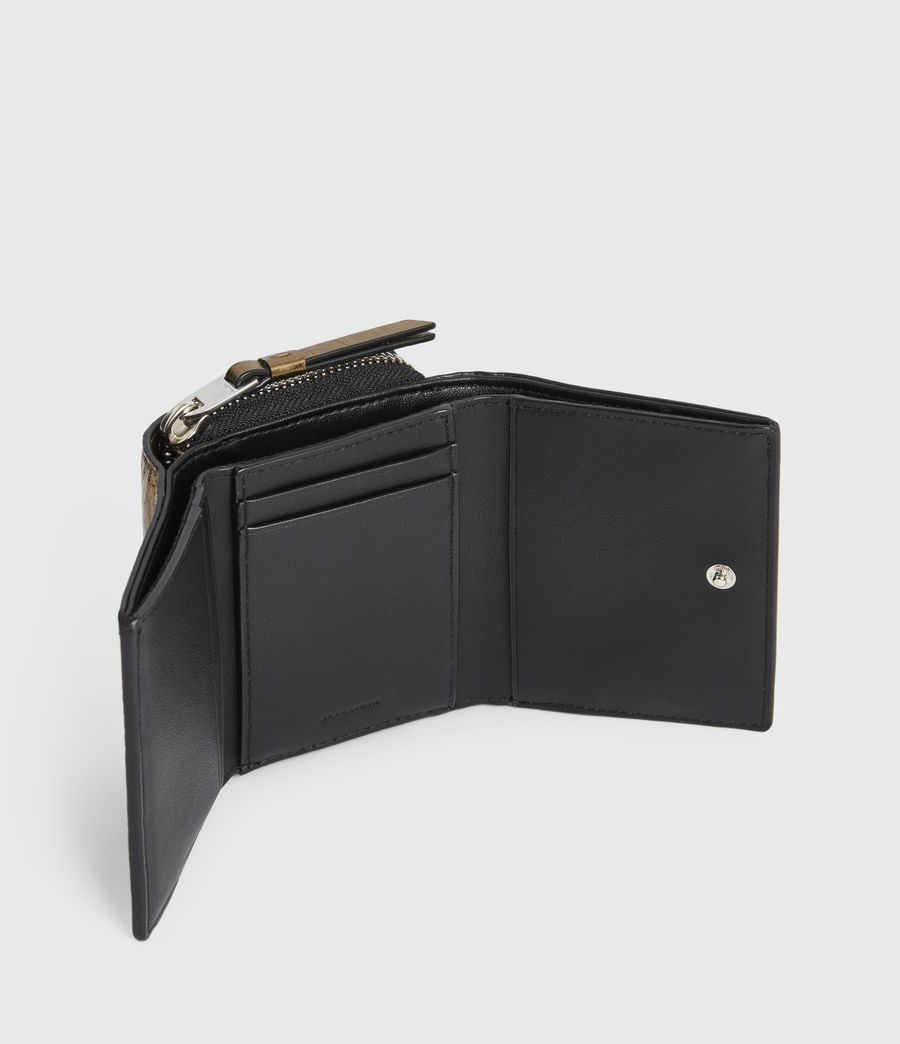 Womens Bede Leather Wallet (gold) - Image 2