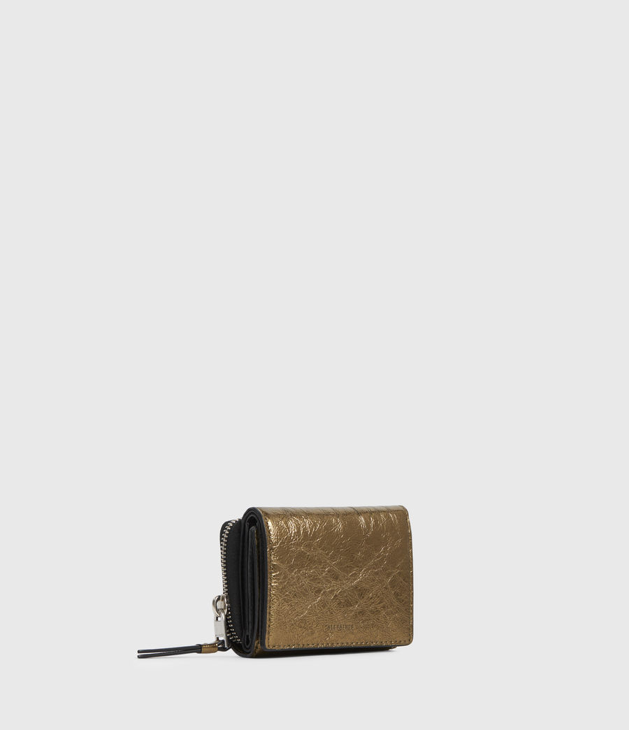 Womens Bede Leather Wallet (gold) - Image 3