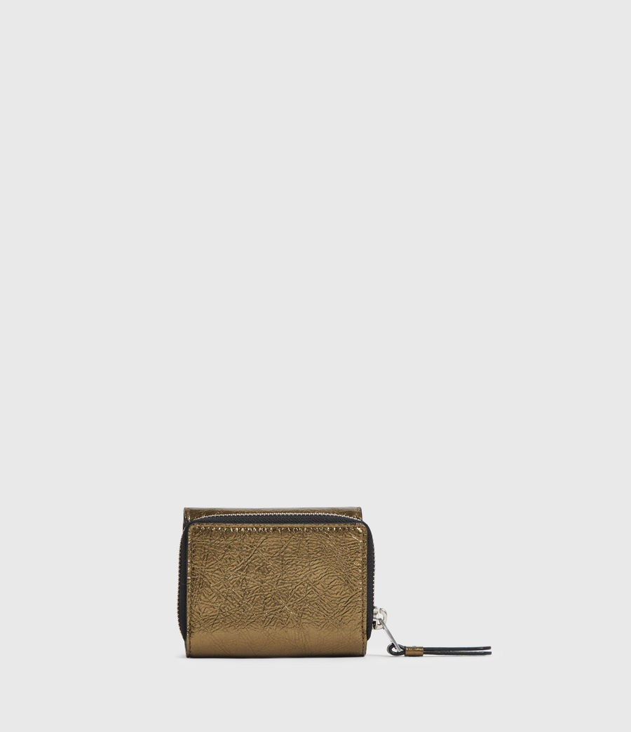 Womens Bede Leather Wallet (gold) - Image 5