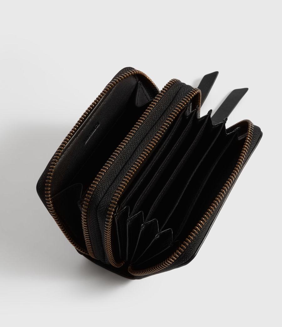 Women's Courtney Leather Cardholder (black) - Image 2