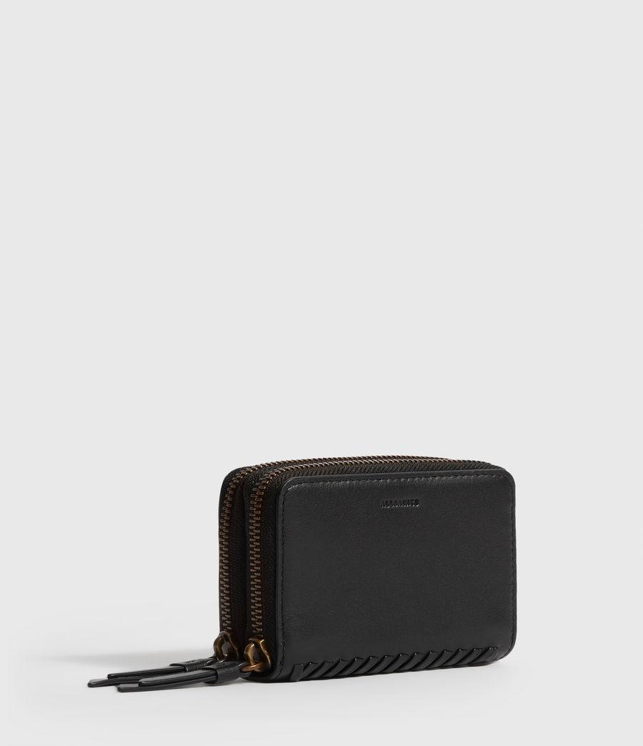 Women's Courtney Leather Cardholder (black) - Image 3
