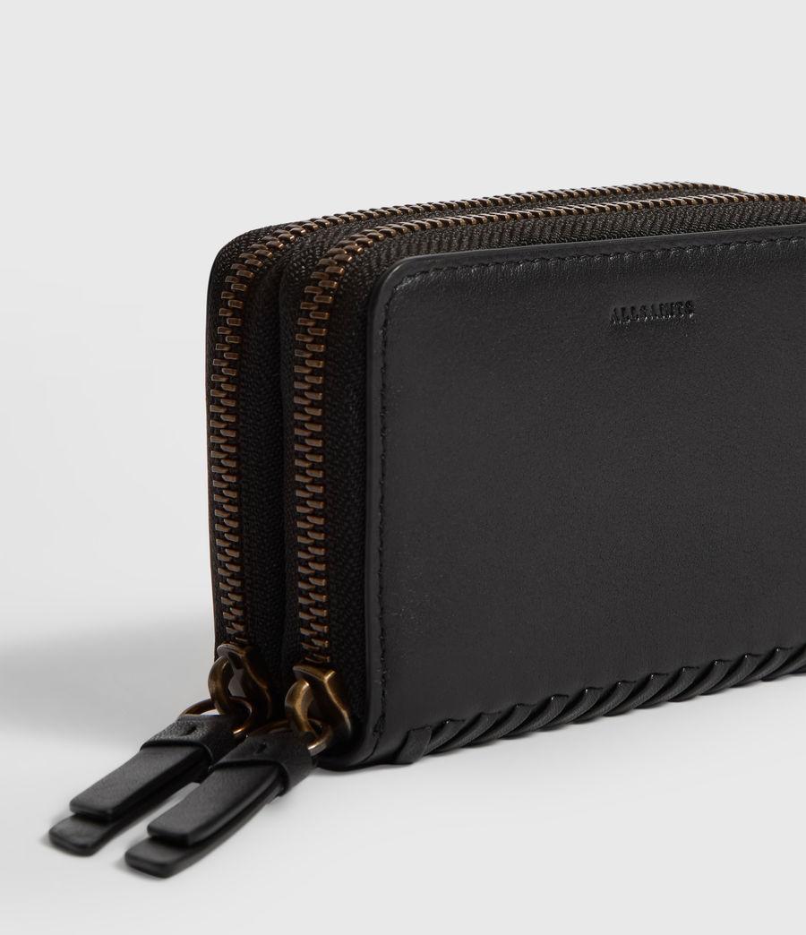Women's Courtney Leather Cardholder (black) - Image 4