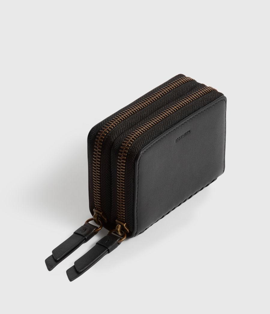 Women's Courtney Leather Cardholder (black) - Image 5