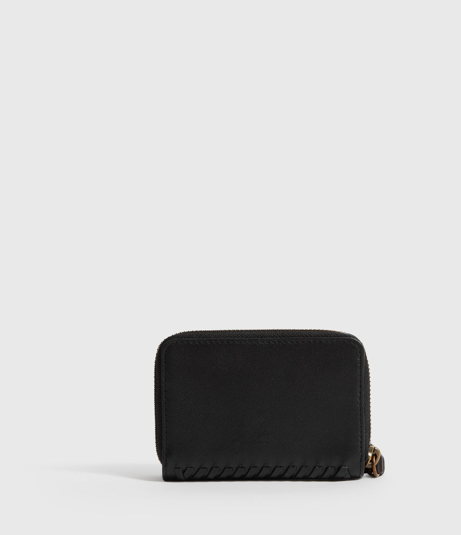 Women's Courtney Leather Cardholder (black) - Image 6