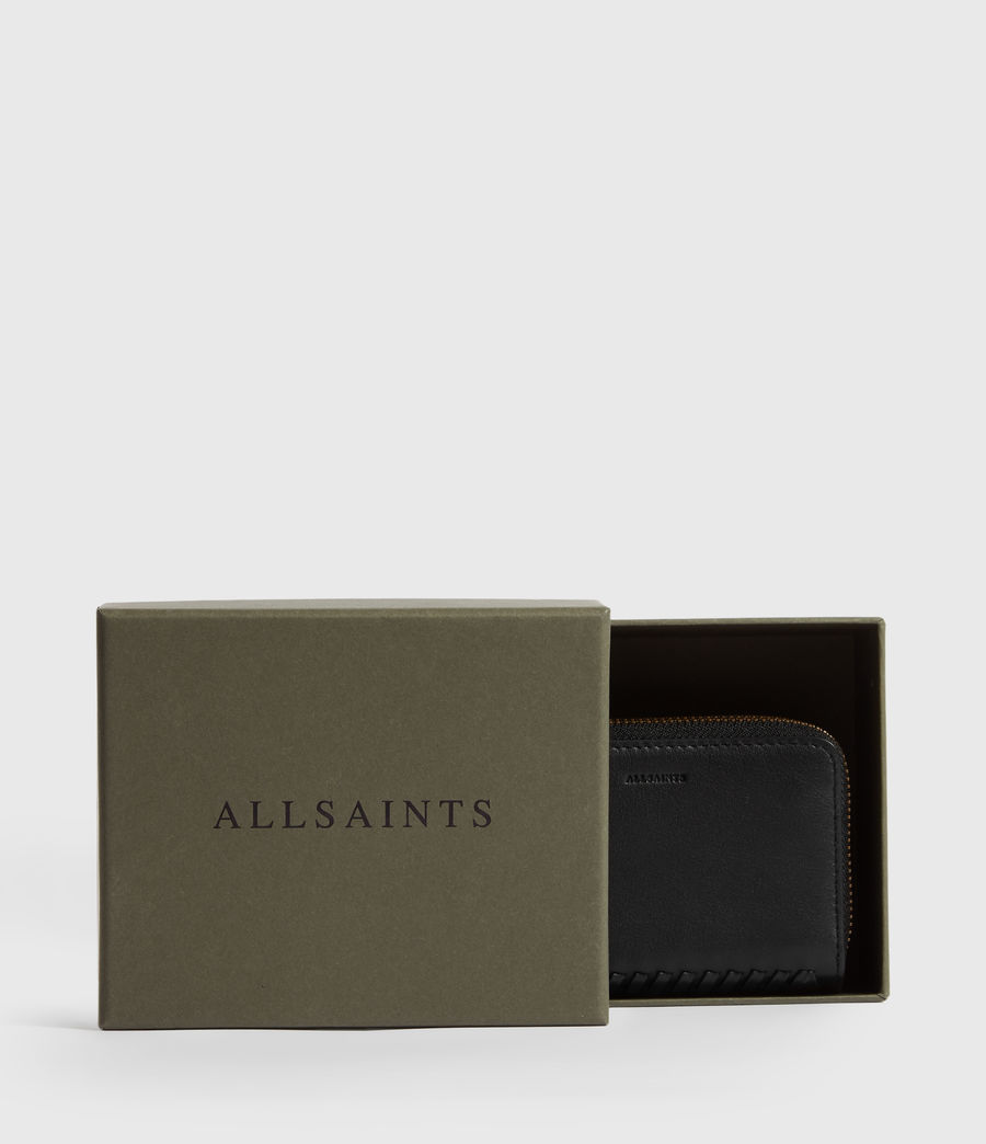 Women's Courtney Leather Cardholder (black) - Image 7