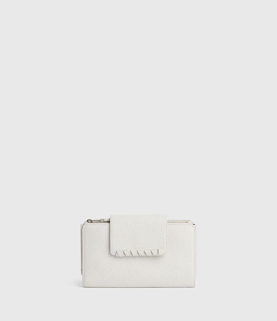 Women's Kita Japanese Leather Wallet (chalk_white) - Image 1
