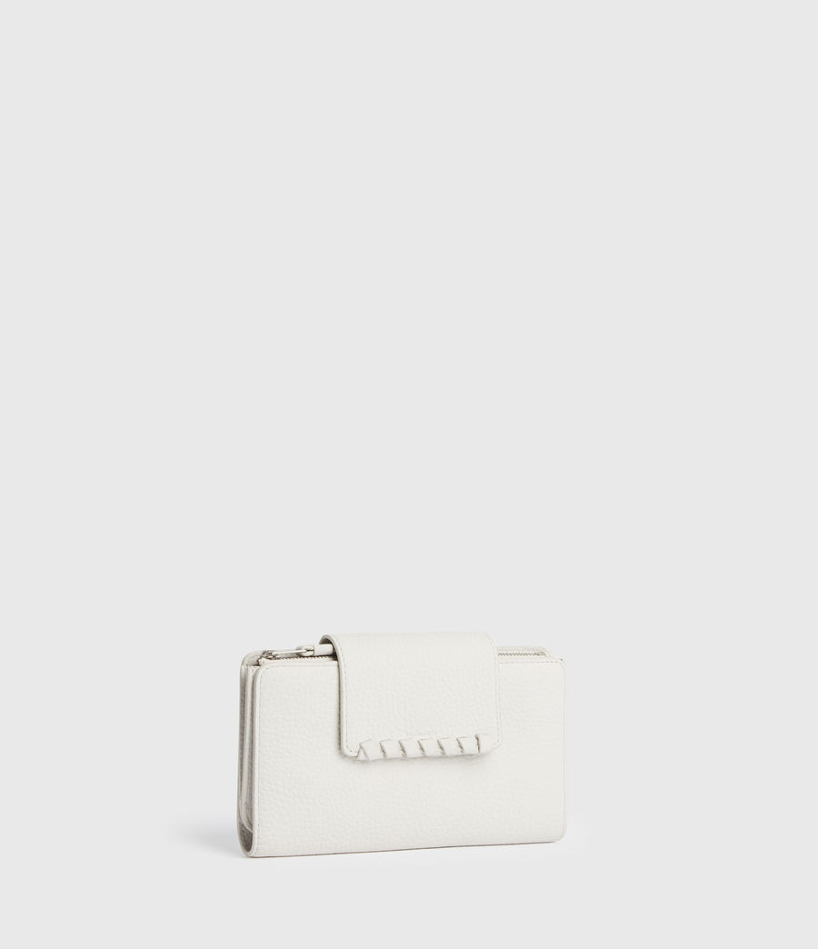 Mujer Kita Japanese Leather Wallet (chalk_white) - Image 3