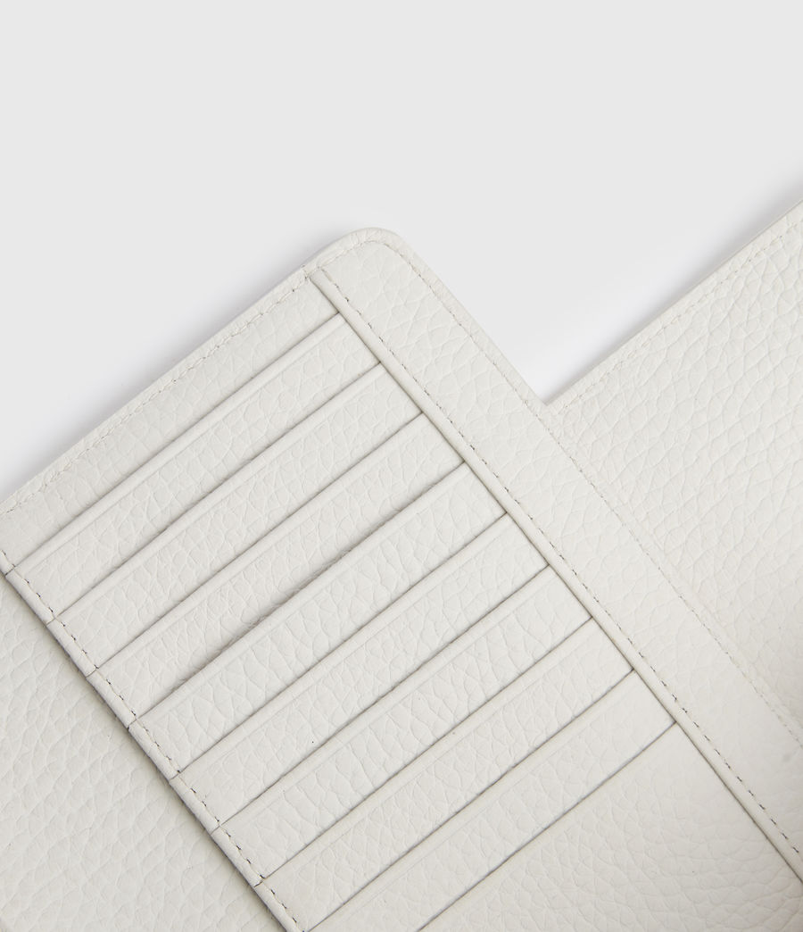 Women's Kita Japanese Leather Wallet (chalk_white) - Image 4