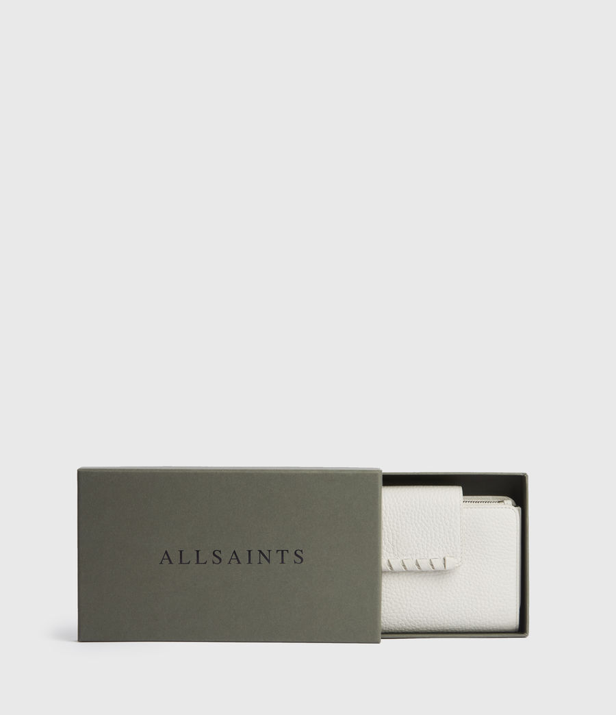 Women's Kita Japanese Leather Wallet (chalk_white) - Image 7