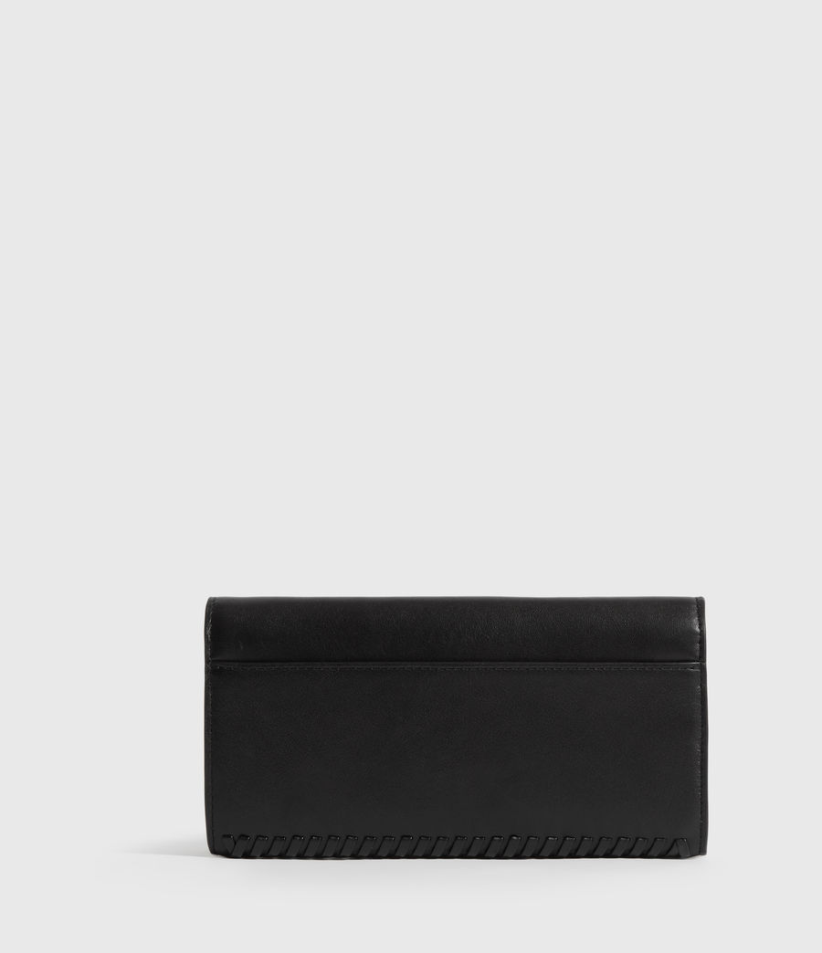 Womens Courtney Chain Leather Wallet (black) - Image 4