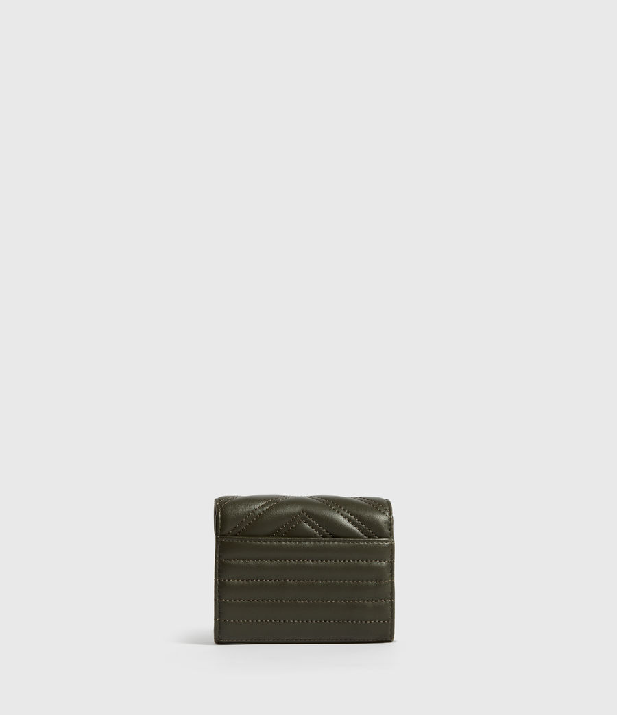 Women's Justine Flap Leather Cardholder (khaki_green) - Image 5