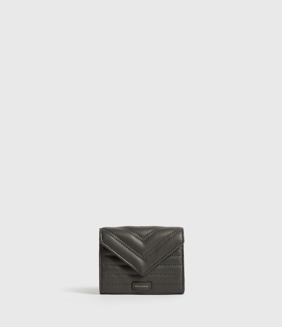 Womens Justine Flap Leather Cardholder (graphite_grey) - Image 1