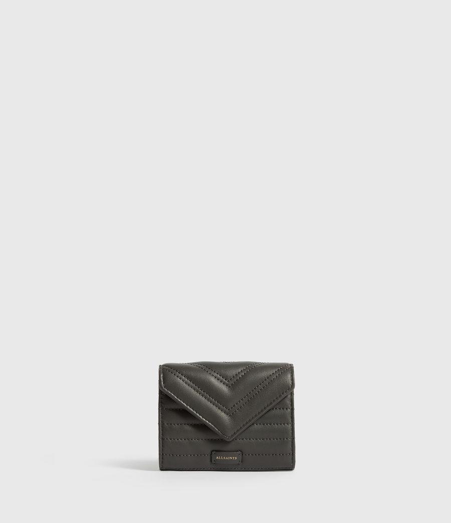 Damen Justine Flap Leather Cardholder (khaki_green) - Image 1