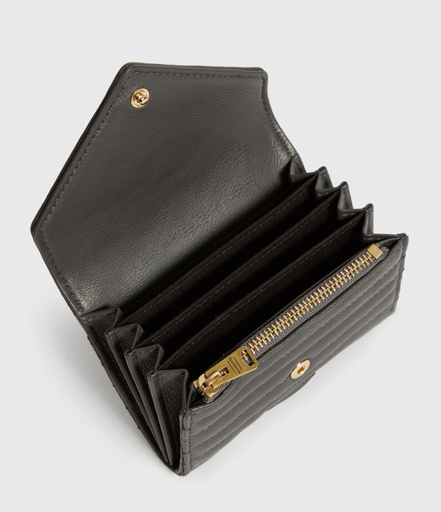 Womens Justine Flap Leather Cardholder (graphite_grey) - Image 2