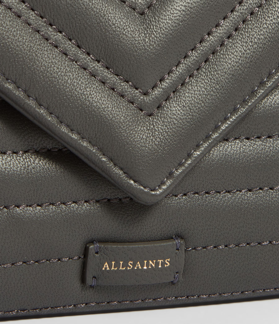 Womens Justine Flap Leather Cardholder (graphite_grey) - Image 3