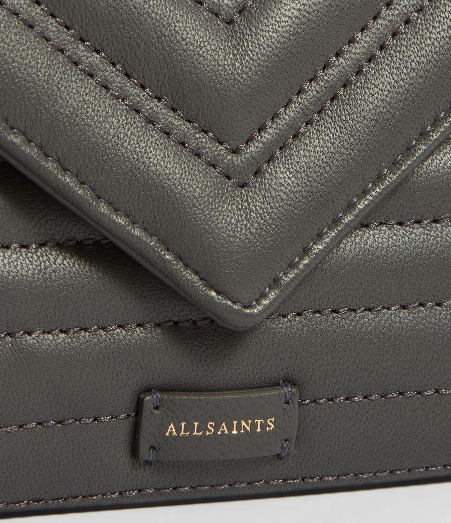 Damen Justine Flap Leather Cardholder (khaki_green) - Image 3