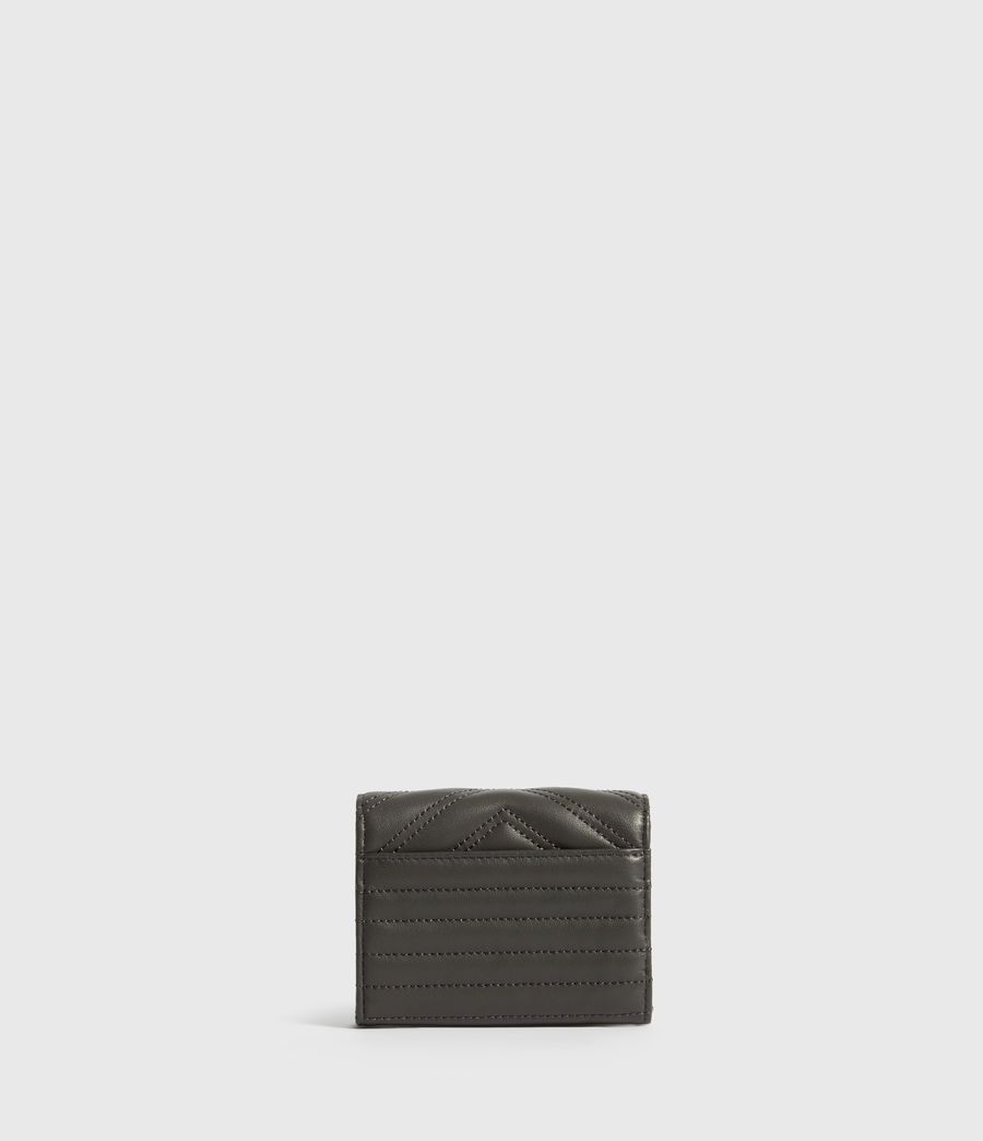 Womens Justine Flap Leather Cardholder (graphite_grey) - Image 4