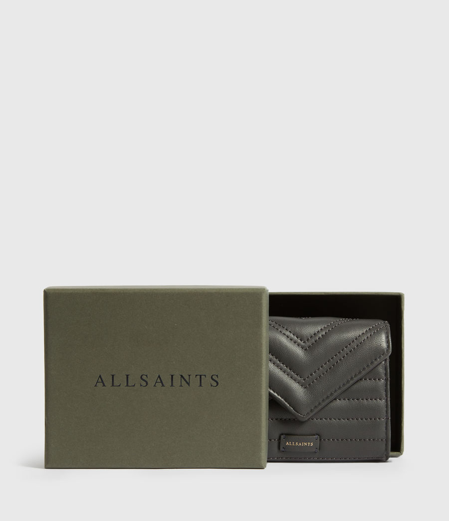 Womens Justine Flap Leather Cardholder (graphite_grey) - Image 5