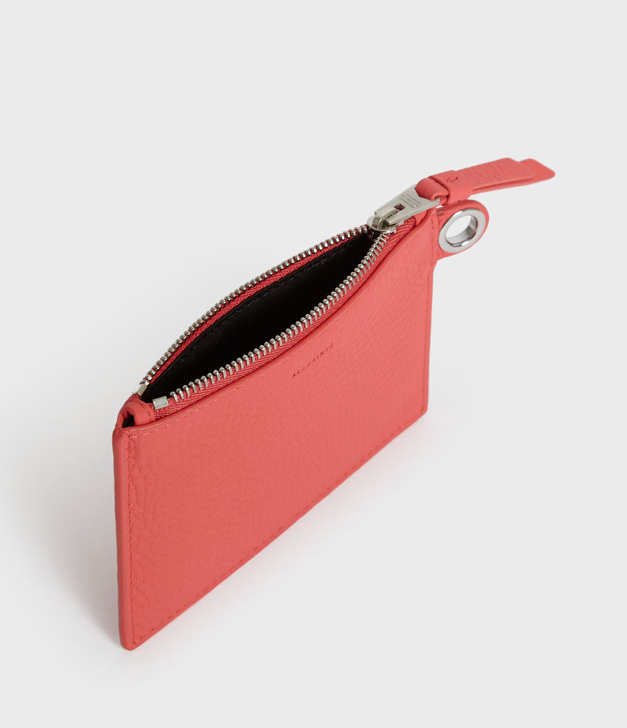 Womens Dive Leather Key Fob (coral_pink) - Image 4