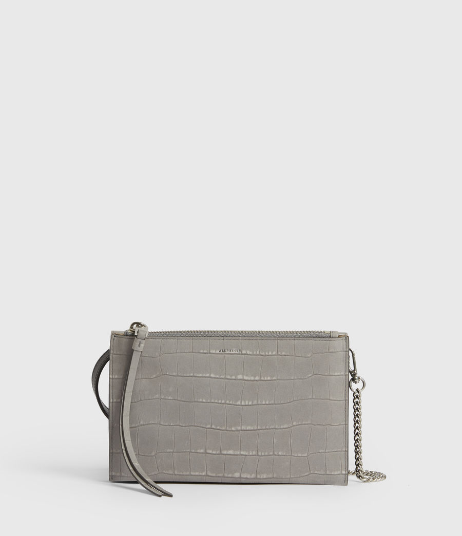 Femmes Claremount Leather Chain Crossbody Bag (mist_grey) - Image 6