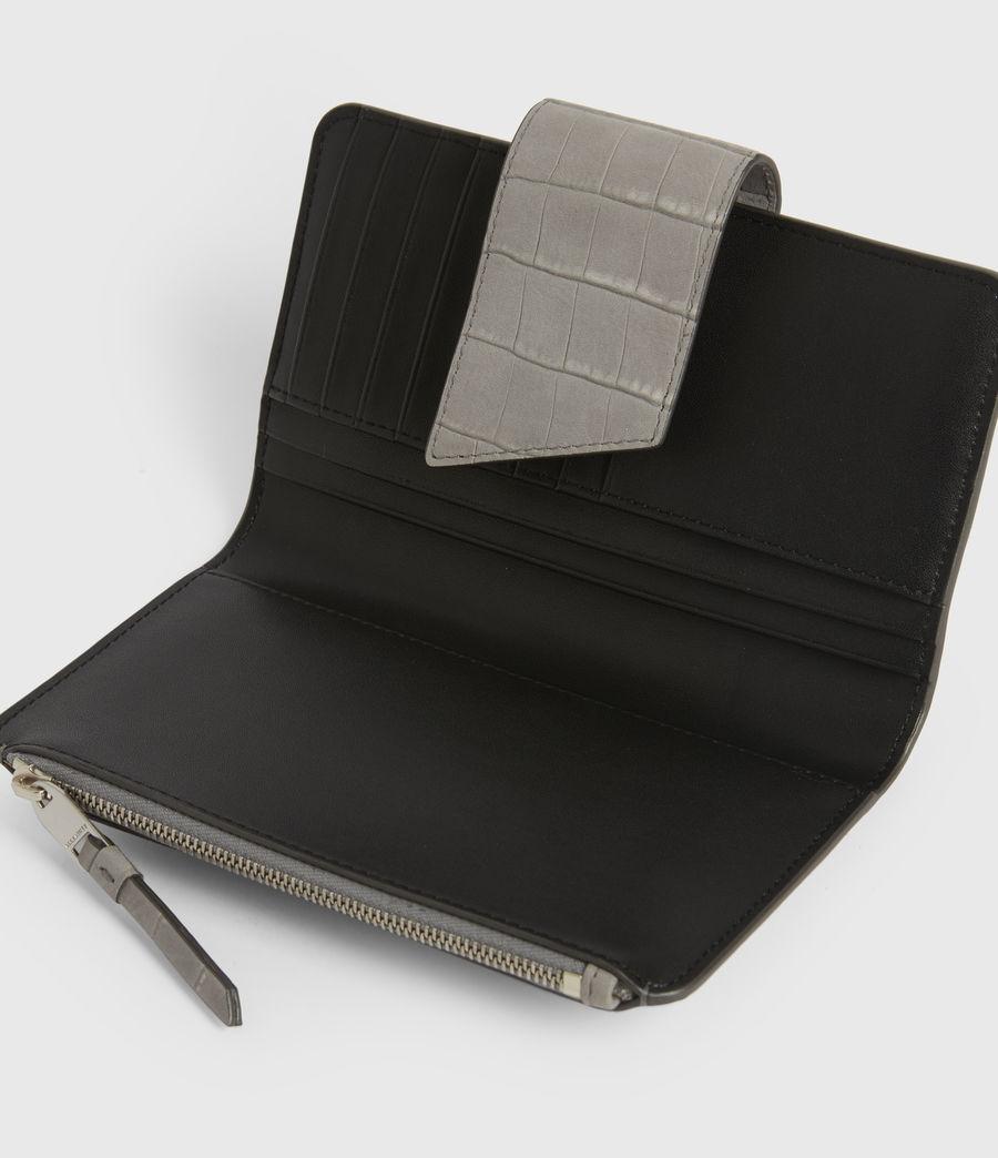 Women's Ray Crocodile Leather Wallet (mist_grey) - Image 2
