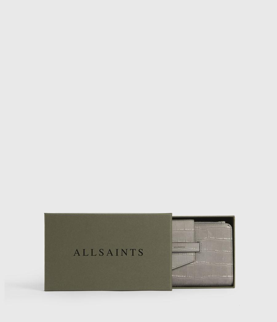 Women's Ray Crocodile Leather Wallet (mist_grey) - Image 7