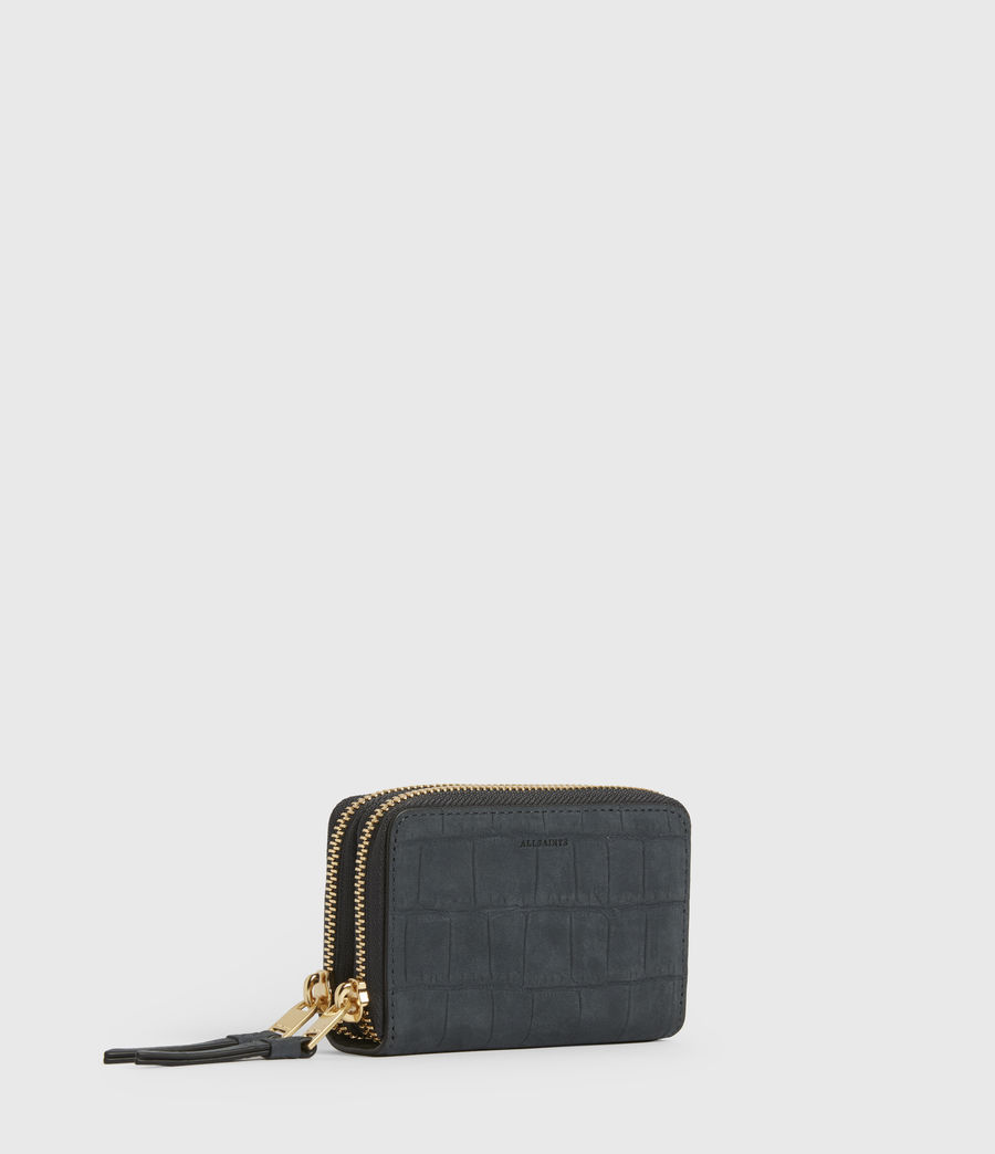 Womens Nantes Croco Leather Cardholder (petrol_blue) - Image 3