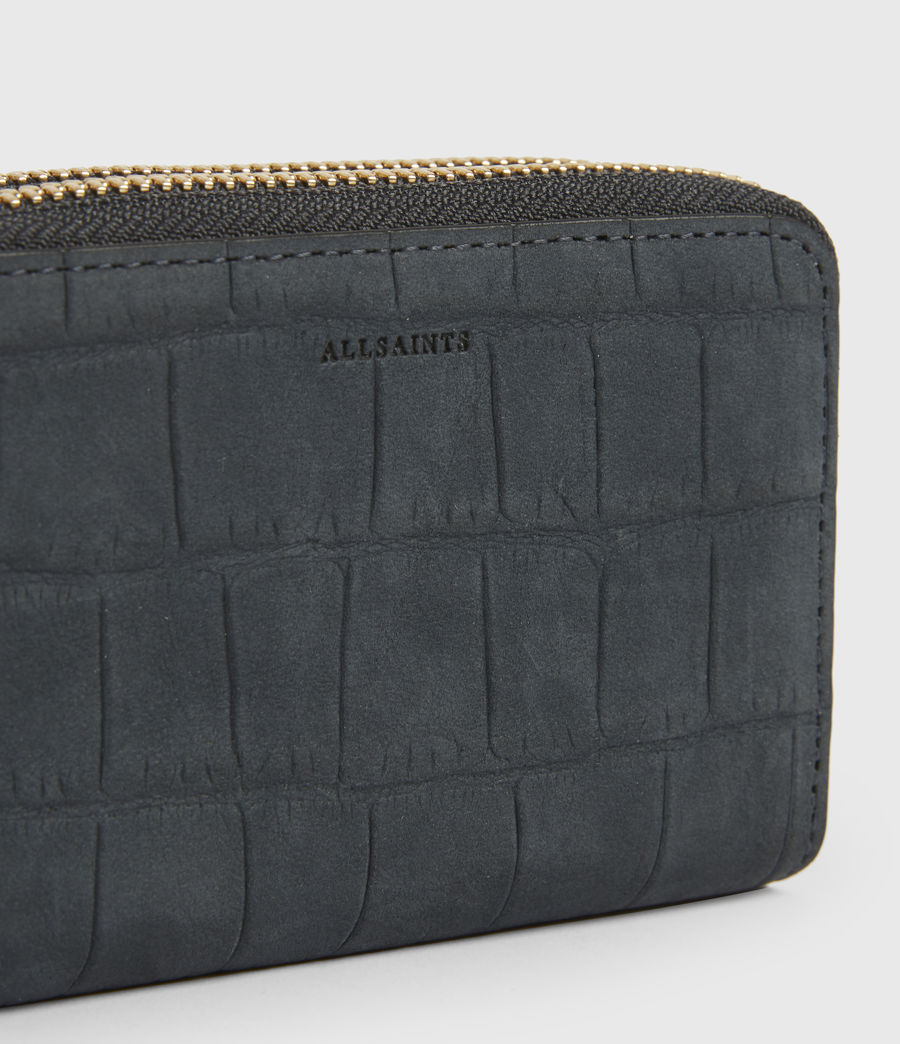 Womens Nantes Croco Leather Cardholder (petrol_blue) - Image 4