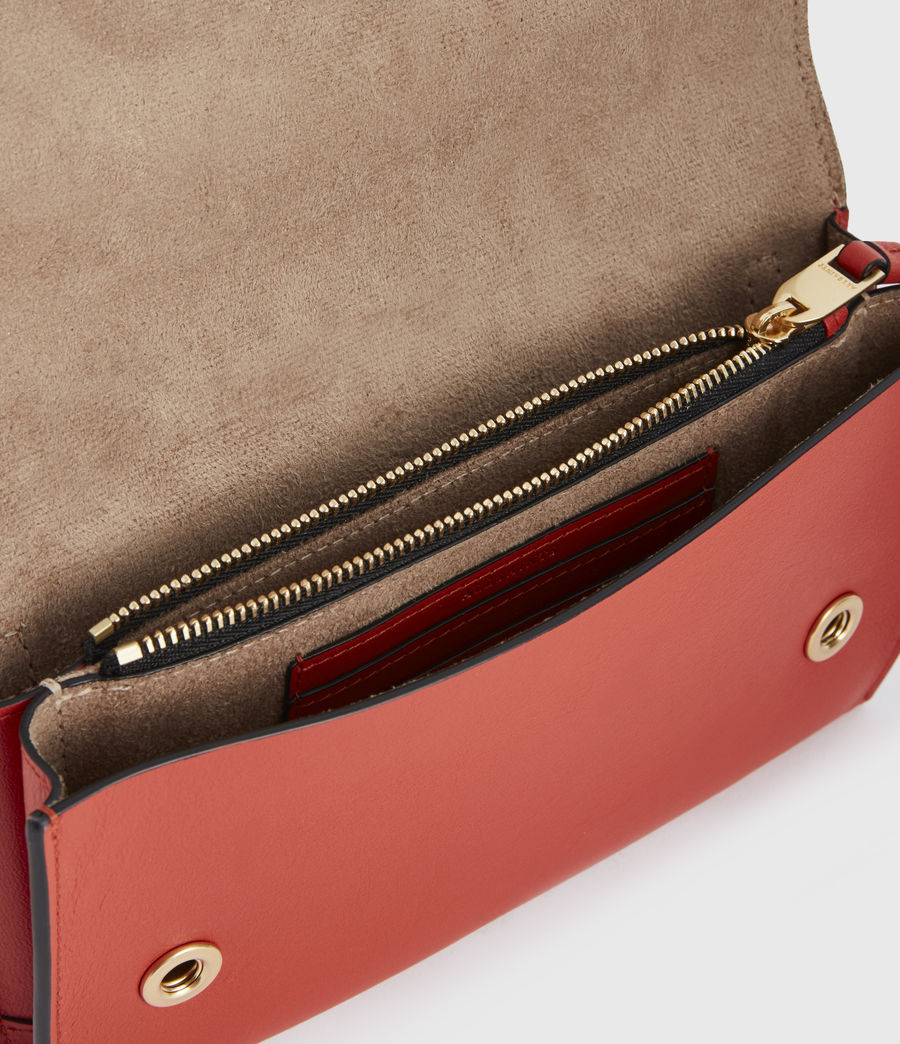 Women's Albert Leather Wallet (riot_red) - Image 2