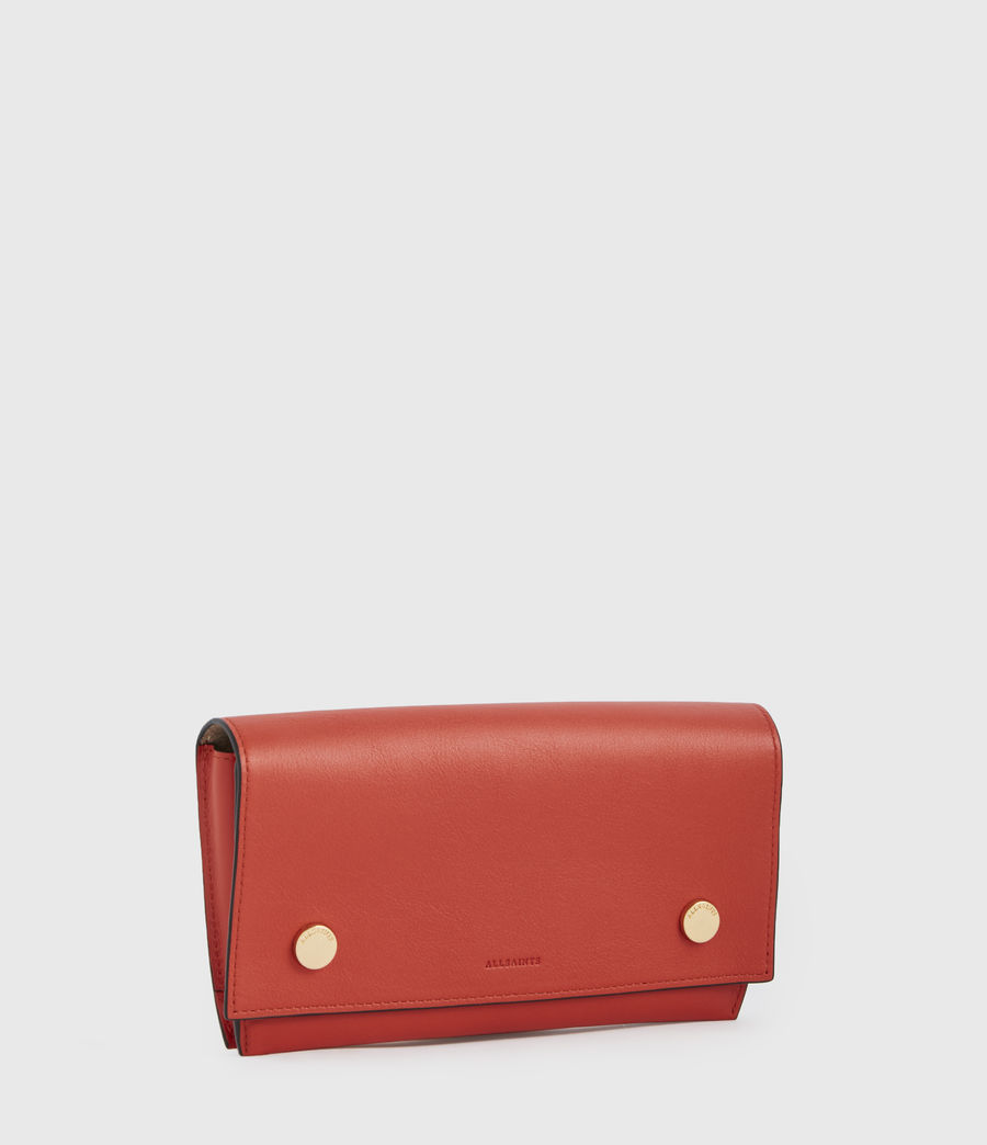 Women's Albert Leather Wallet (riot_red) - Image 3