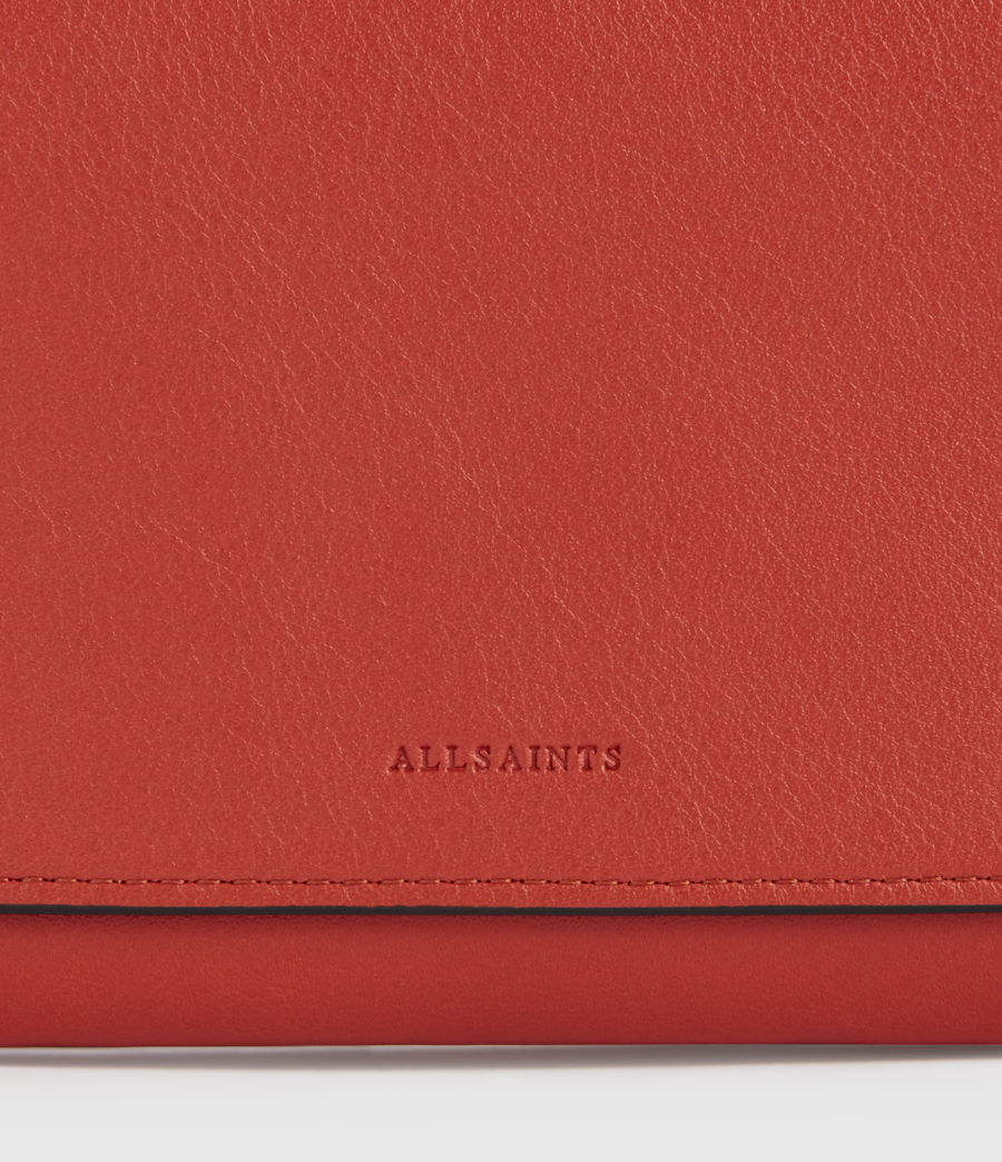 Women's Albert Leather Wallet (riot_red) - Image 4