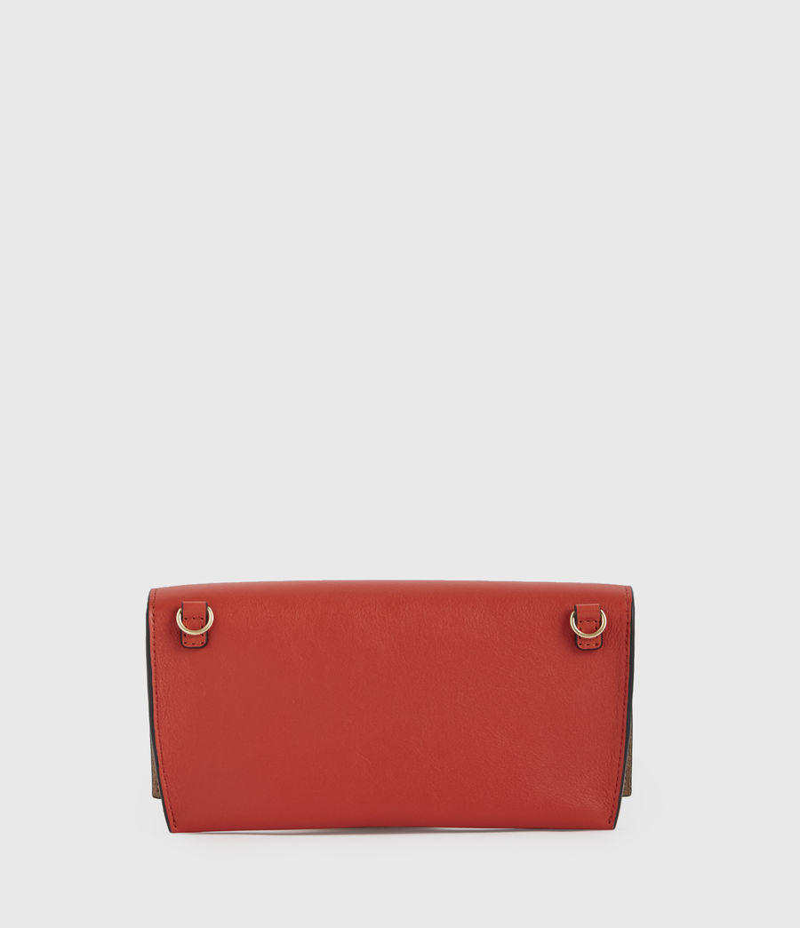 Women's Albert Leather Wallet (riot_red) - Image 6