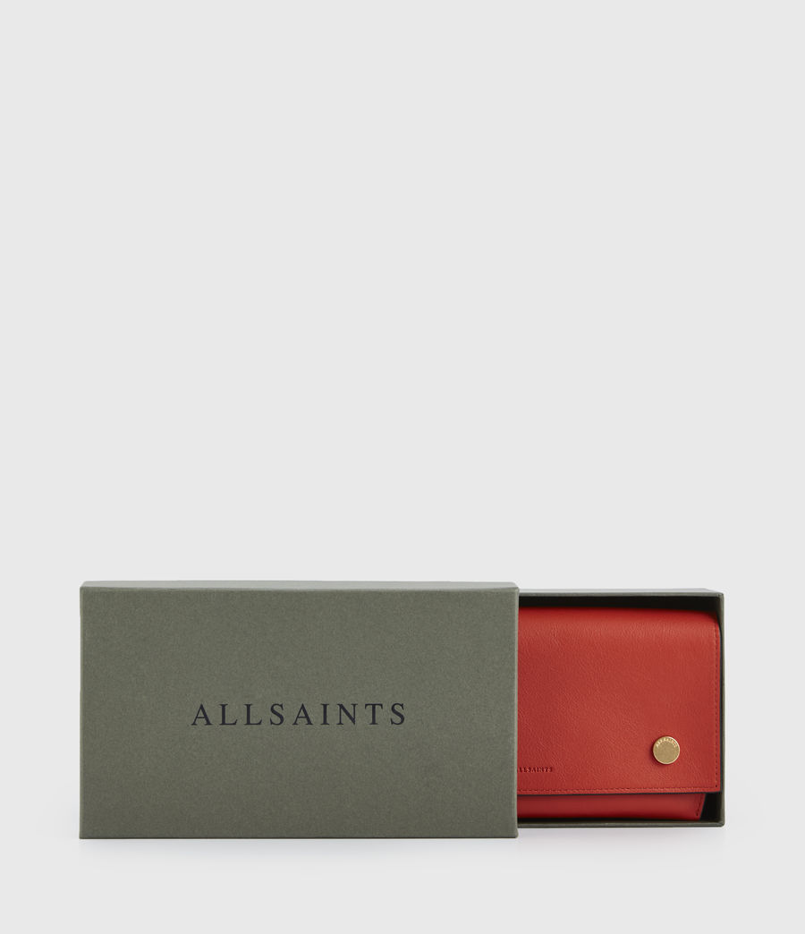 Women's Albert Leather Wallet (riot_red) - Image 7